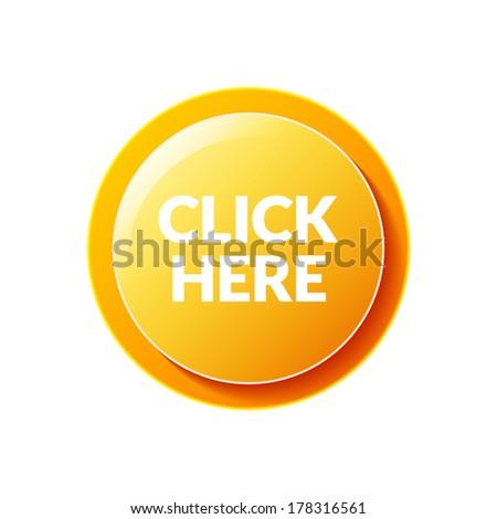 Click Here button - stock vector