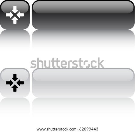 Click here glossy square web buttons. - stock vector