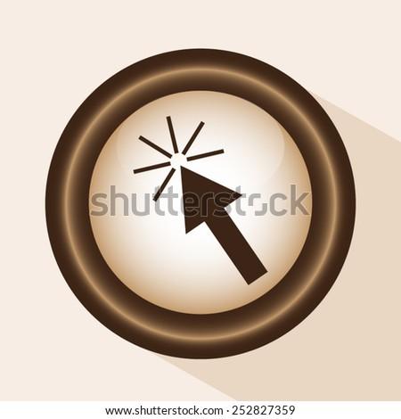 click here icon - stock vector