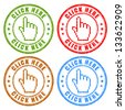 Click here vector stamps - stock vector