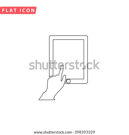 Click tablet Icon Vector.  - stock vector