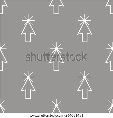 Click white and black seamless pattern for web design. Vector symbol - stock vector