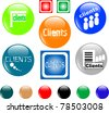 clients button set of colored shiny icon - stock photo