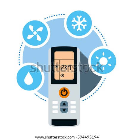Climate Control System Concept Air Conditioner Stock Vector Royalty