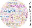 CLIMATE. Word collage on white background. Vector illustration. - stock photo
