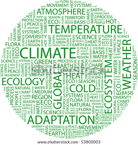 CLIMATE. Word collage on white background. Vector illustration. - stock vector