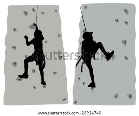 climber vector - stock vector