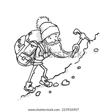 mountain climber coloring pages - photo#21