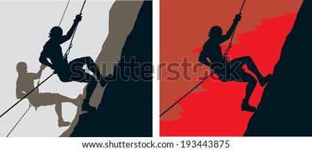 Climbers - stock vector