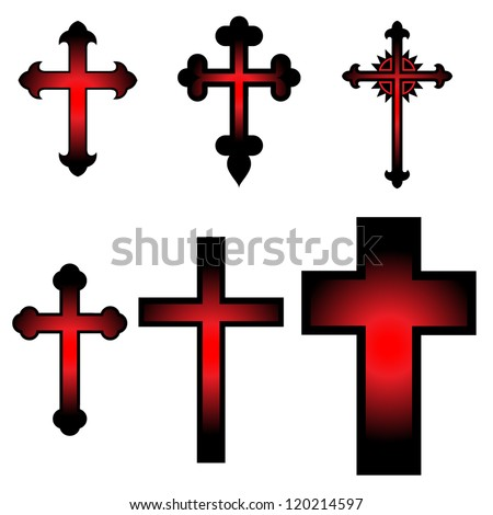 clip art illustration vector crosses draw stock vector 120214597 rh shutterstock com clip art of crosses with hearts clipart of crosses and flowers