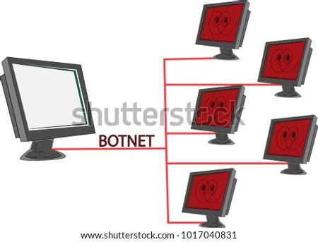 clip art computer virus botnet stock vector royalty free