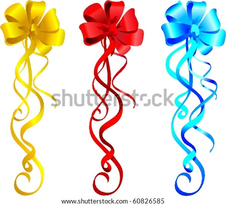 Clipart Holiday Color Gift Ribbons Bow Stock Vector 60826585 ...