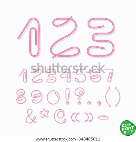 Clip Font  - stock vector
