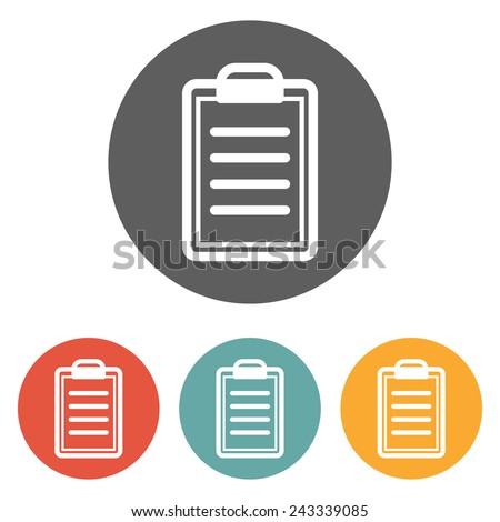clipboard icon - stock vector
