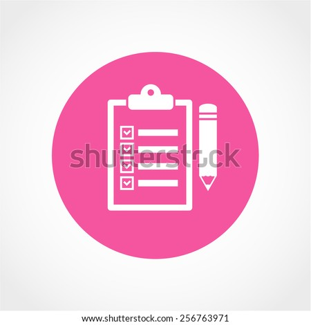 Clipboard pencil Icon Isolated on White Background - stock vector