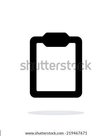Clipboard simple icon on white background. Vector illustration.