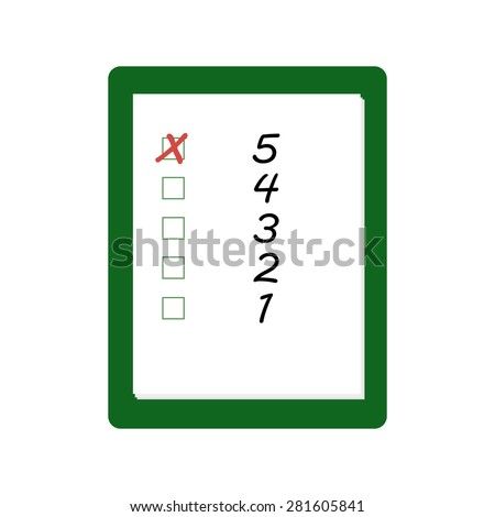 clipboard to the rating with check box. The concept of evaluation and feedback - stock vector