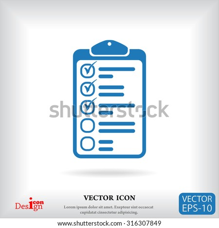 clipboard vector icon - stock vector