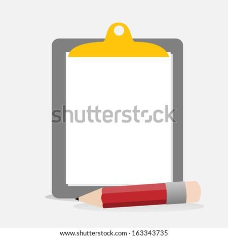 Clipboard - vector  illustrator - stock vector