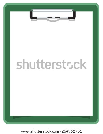Clipboard with blank sheet of paper. Illustration in vector format