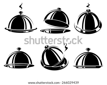 Cloche restaurant. Vector - stock vector