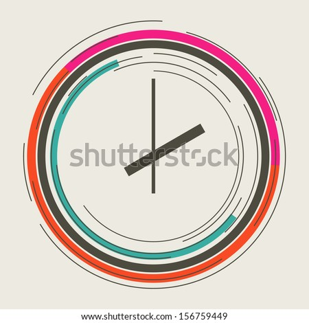 Clock abstract icon - stock vector