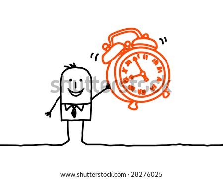 clock alarm - stock vector