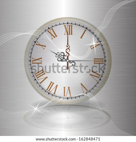 Clock antique - stock vector