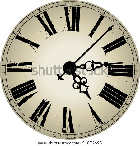 clock antique style clock face