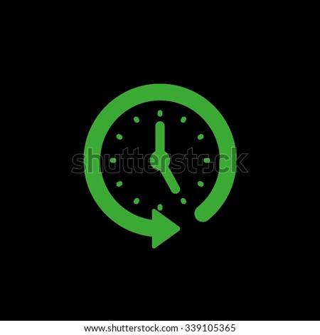 clock arrow - stock vector