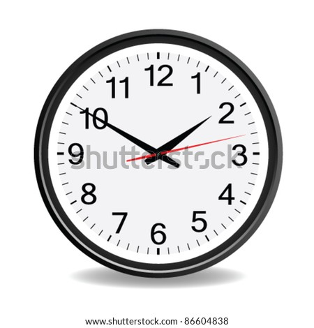 clock black vector illustration for best time
