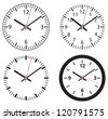 Clock collection - stock vector