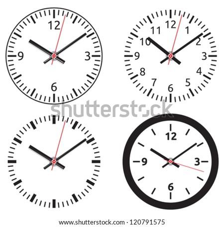 Clock collection - stock vector