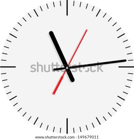 Clock dial. Vector illustration. - stock vector