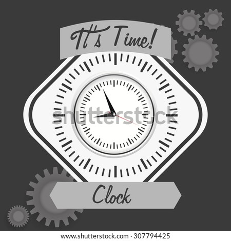 Clock digital design, vector illustration 10 eps graphic - stock vector