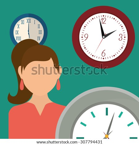 Clock digital design, vector illustration 10 eps graphic