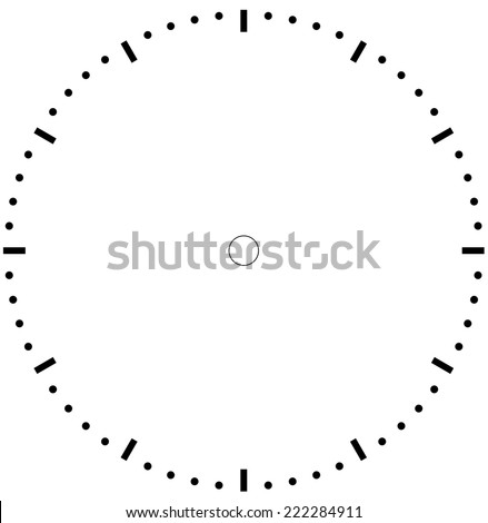 clock face blank  - stock vector