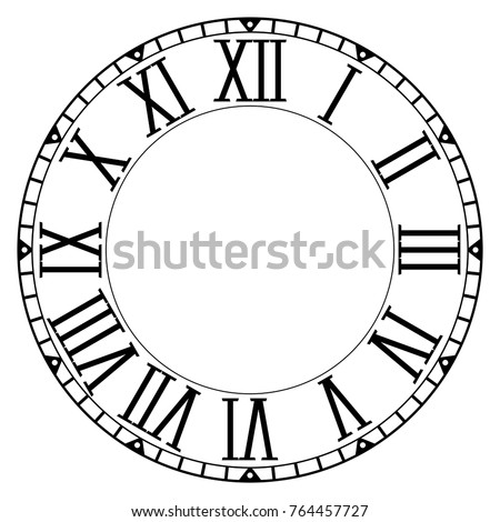 clock face blank clock roman numerals stock vector royalty free