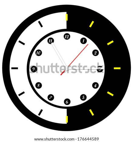 clock face illustration