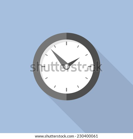 Clock flat icon. World time concept. Business background. Internet marketing. Daily infographic. - stock vector