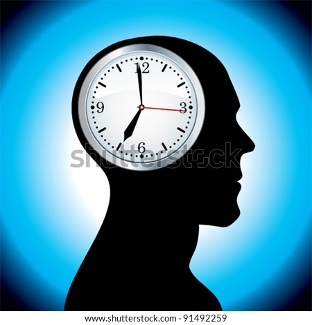 Clock head. - stock vector