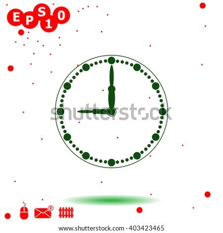 Clock Icon. Clock Icon Vector. Clock Icon Object. Clock Icon Picture. Clock Icon Image. Clock Icon JPG. Clock Icon JPEG. Clock Icon EPS. Clock Icon Drawing. Clock Icon Graphic. Clock Icon AI. - stock vector