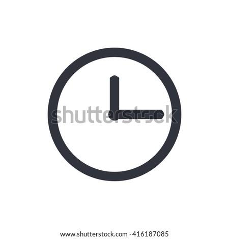 clock icon, clock symbol, clock vector, clock eps, clock image, clock logo, clock flat, clock art design, clock white - stock vector