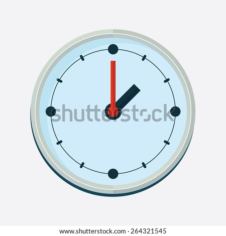 Clock Icon. Flat design concept. Vector. Illustration