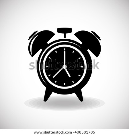 Clock icon object, time concept vector design