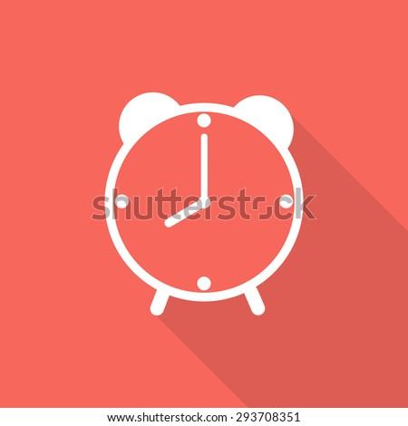 clock icon, shadow - stock vector