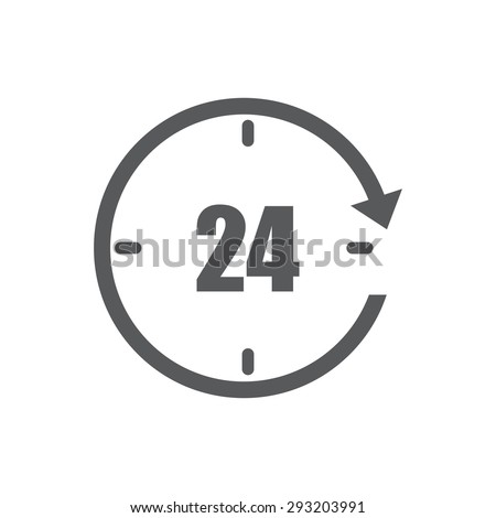 Clock icon, time,  - stock vector