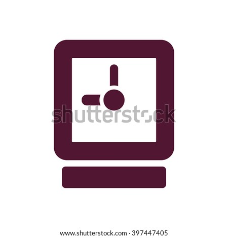 Clock Icon ,  vector illustration. Flat design style