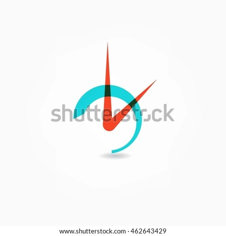 Clock icon. Vector illustration white background