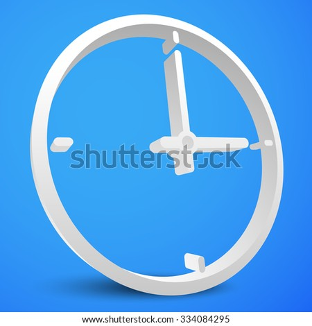 Clock icon with minute, hour pointer. vector. - stock vector